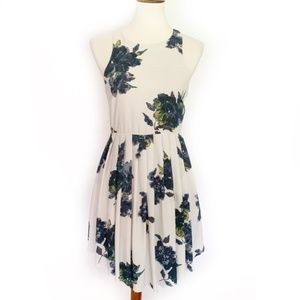 FREE PEOPLE Pleated Floral Dress